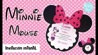 MINNIE MOUSE - Invitacion Infantil + Moldes gratis (DIY) | Party pop!🎉 |