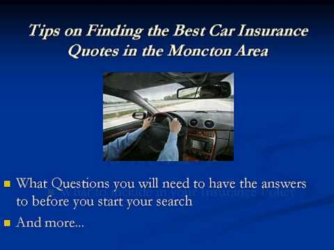Best Moncton Car Insurance Quotes