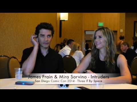Comic Con 2014 Intruders - James Frain & Mira Sorvino