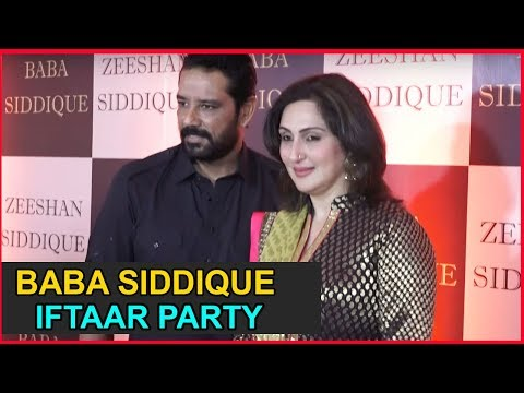 Anup Soni With Wife Juhi Babbar At Baba Siddiqui Iftaar Party  2018
