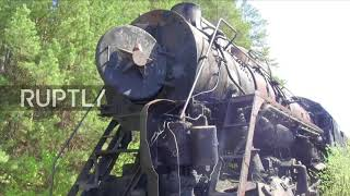 Eerie train graveyard gives glimpse into golden age of Soviet steam trains