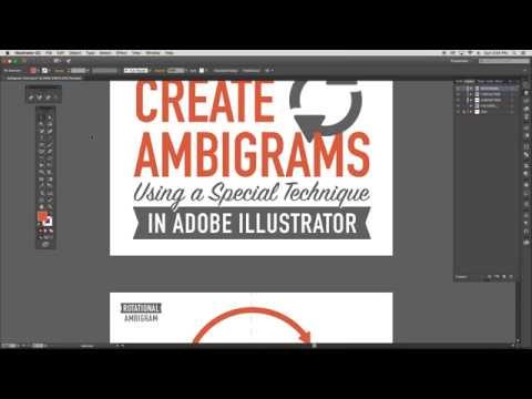AMBIGRAM TUTORIAL : How to use a Special Technique In Adobe Illustrator