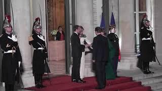 Le couple Macron a accueilli le grand-duc Henri de Luxembourg et son épouse