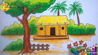 Vẽ ngôi nhà nông thôn/How to draw Country house