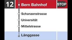 Bernmobil Ansagen - Bus Linie 12 Zentrum Paul Klee-Bern-Länggasse (Teilstrecke Bahnhof-Länggasse)