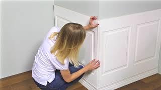 Установка широких стеновых панелей Ultrawood видео инструкция