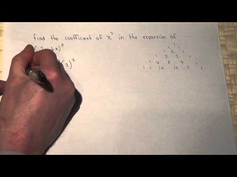 Binomial Theorem: Finding The Coefficient Of X^3 In (2-4x)^5