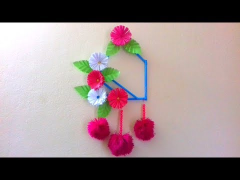 Beautiful wall hanging with colourful paper. DIY /craft idea. How to make Wall decoration idea.