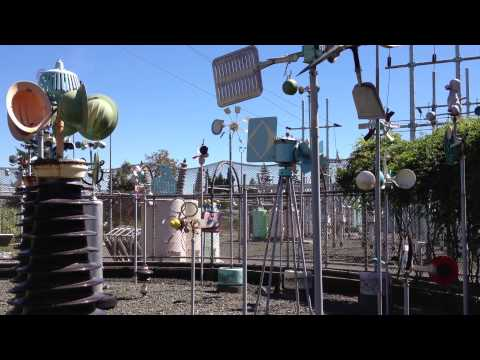 Whirligigs at the Viewland/Hoffman electrical substation in Seattle, Washington