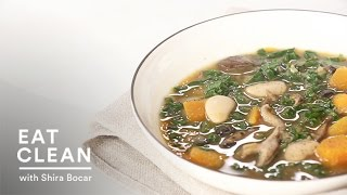 Mushroom And Lima Bean Stew - Eat Clean With Shira Bocar