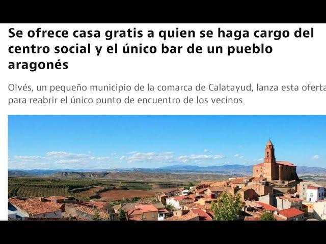 BROMA!! Jesús San Silvestre quiere una casa gratis en OLVÉS a cambio de alquilar el BAR DEL PUEBLO!