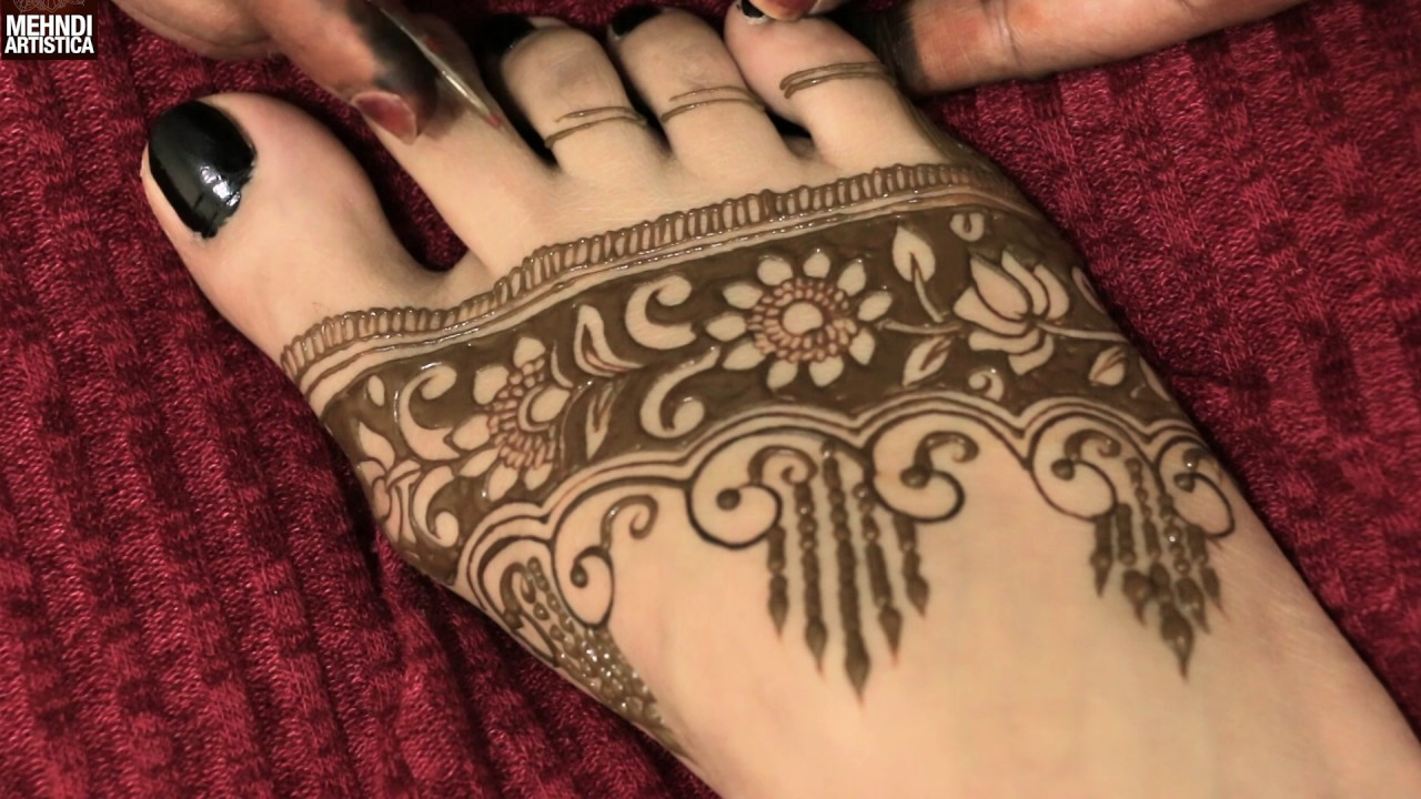 Mehndi design 2017 ki - How To Draw Shaded Floral Mehndi Designs Easy Simple Elegant Heena Mehendi Tattoo Design 2017