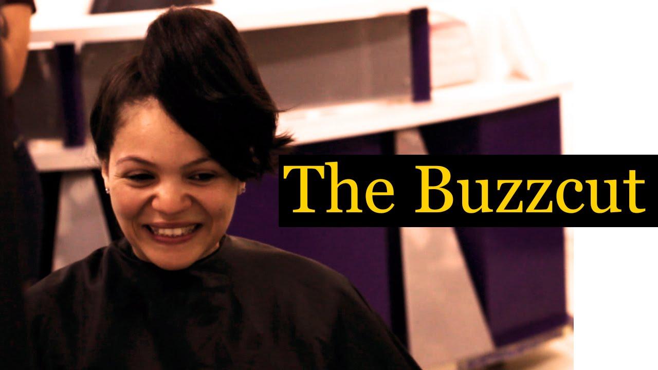 Woman Gets A Buzz Cut Hair Style Youtube