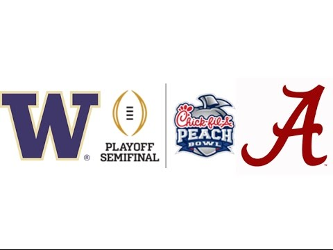 2016 Peach Bowl, #4 Washington vs #1 Alabama (Highlights)