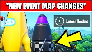 *NEW* EVENT FORTNITE MAP CHANGES - THE ROCKET IS ACTIVATED (SEASON 10 EVENT)