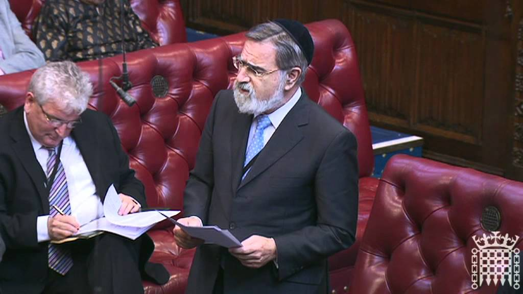 Chief Rabbi Lord Sacks speaks on the contributions of faith communities