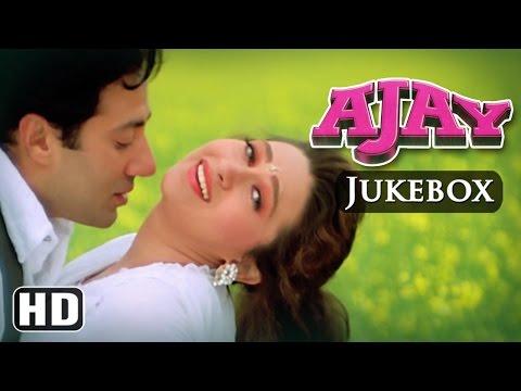 All Songs Of Ajay {HD} - Sunny Deol - Karishma Kapoor - Anand-Milind Hits - Hindi Full Songs