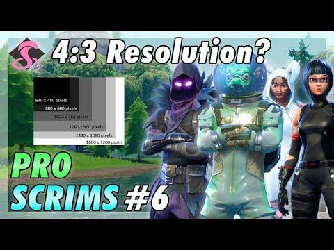 Fortnite Pro Snipe Scrims Full Match #6 w/ a 4:3 Resolution