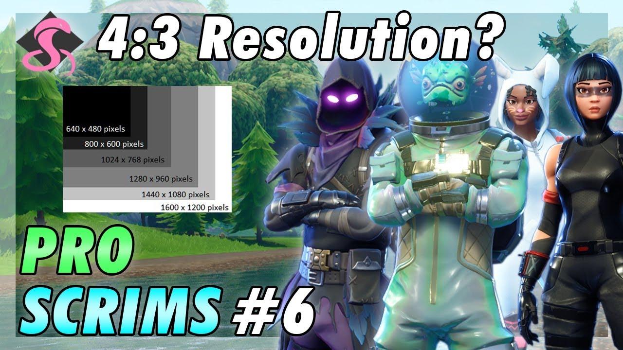 fortnite pro snipe scrims full match 6 w a 4 3 resolution - resolution fortnite 43