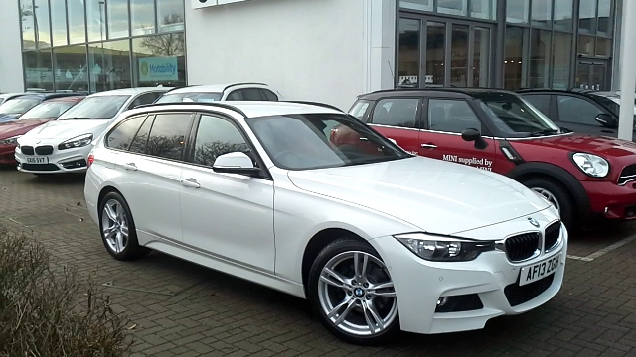 bmw 320d xdrive m sport touring in alpine white youtube. Black Bedroom Furniture Sets. Home Design Ideas