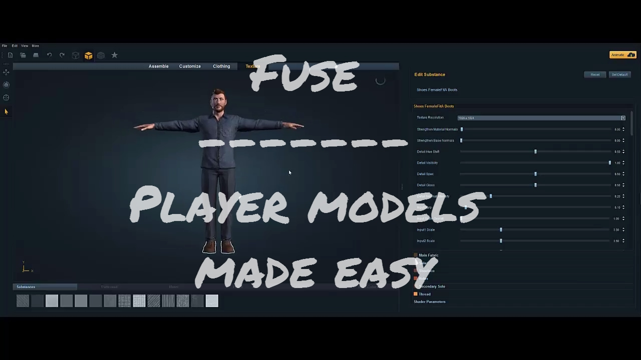 Creating player models in Fuse - 3D Modeling