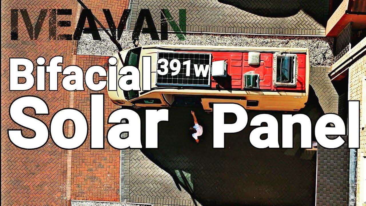 18 Diy Camper Van Build Off Grid Bifacial Solar Panel Install Youtube