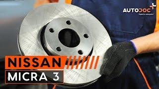 Как да сменим предни спирачни дискове и спирачни накладки на NISSAN MICRA 3 ИНСТРУКЦИЯ | AUTODOC