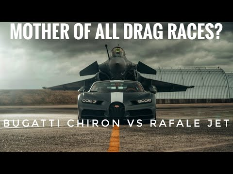 Bugatti Chiron Sport vs Rafale fighter jet: The mother of all drag races