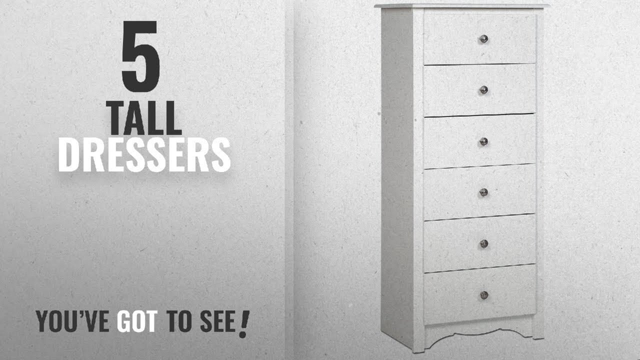 Top 10 Tall Dressers [2018]: White Monterey Tall 6 Drawer Chest
