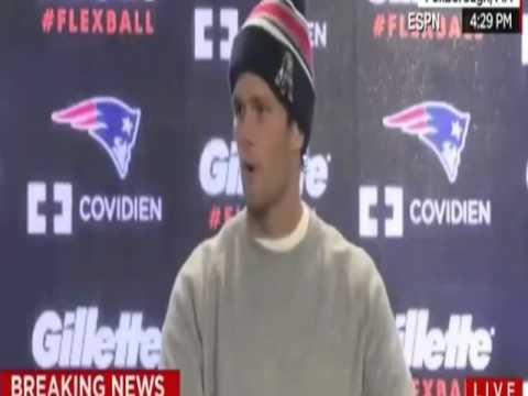 tom brady : Patriots' QB  Says He Didn't Deflate the Footballs