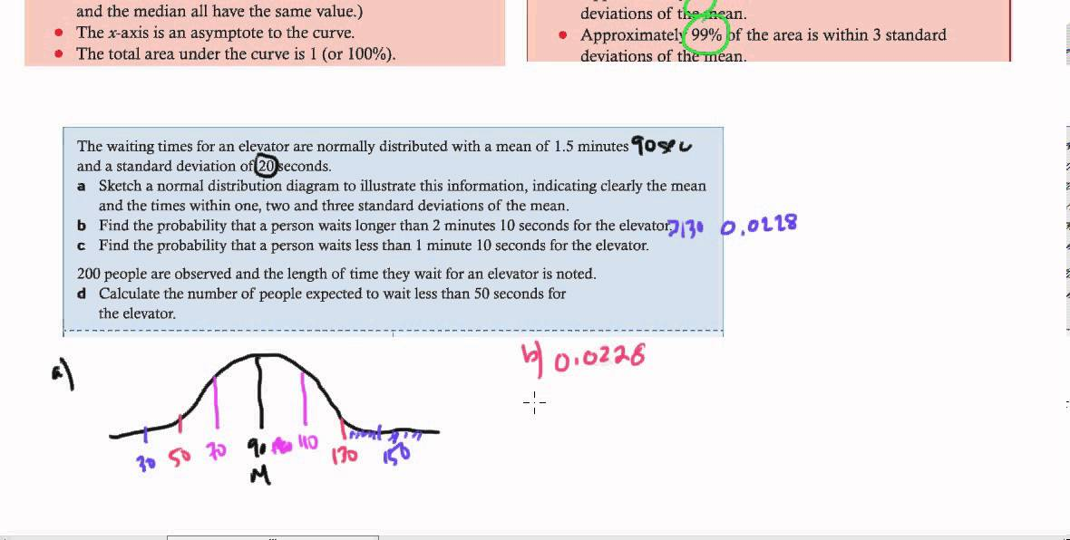 Ib Math Studies - Topic 4 Statistics Normal Distribution -9631