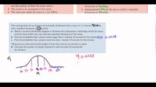 IB Math Studies - Topic 4 Statistics: Normal Distribution (May 2014)