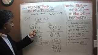 TEAS V, Math Day 57, p109, Algebra Absolute Values, Nursing Online Test Prep Tutor GRE, GMAT, SAT