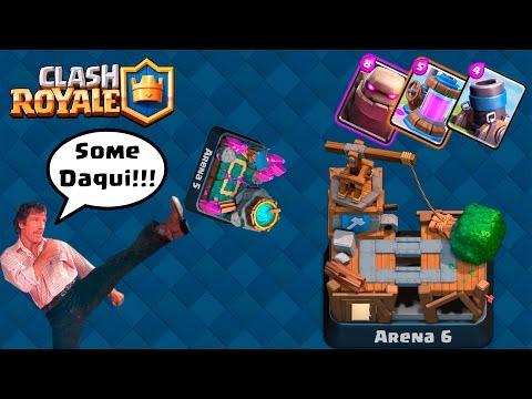 Clash Royale - UÉ CADÊ A ARENA 5? SUMIU
