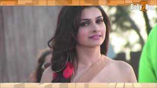 Hot Prachi Desai Playing with Her Top & Mini Skirt