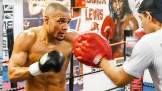Chris Eubank Jr BRUTALLY BEATS UP NEW TRAINER (on the body protector)