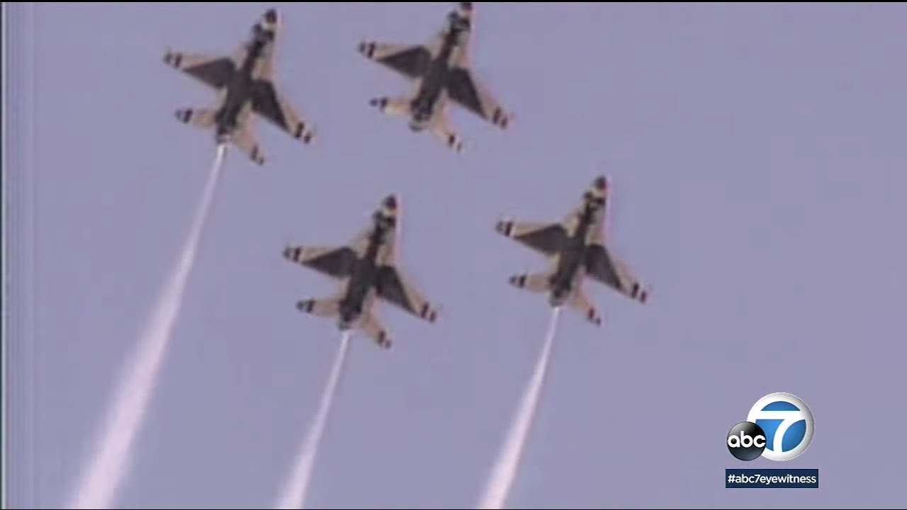 Thunderbirds fly over Southern California saluting front line workers