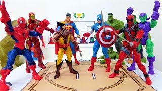 スーパーヒーロー対抗 トントン相撲選手権#1!スパイダーマン、ハルク、アイアンマン