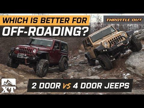 How To Choose The Right Jeep For Off-Roading - Wrangler JK 2 door vs 4 door Off-Road Comparison