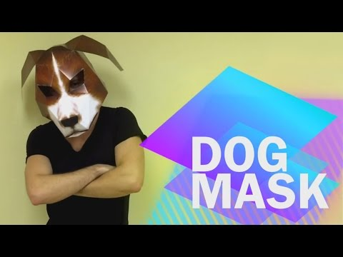 How to make Dog Mask from paper | DIY | Handmade