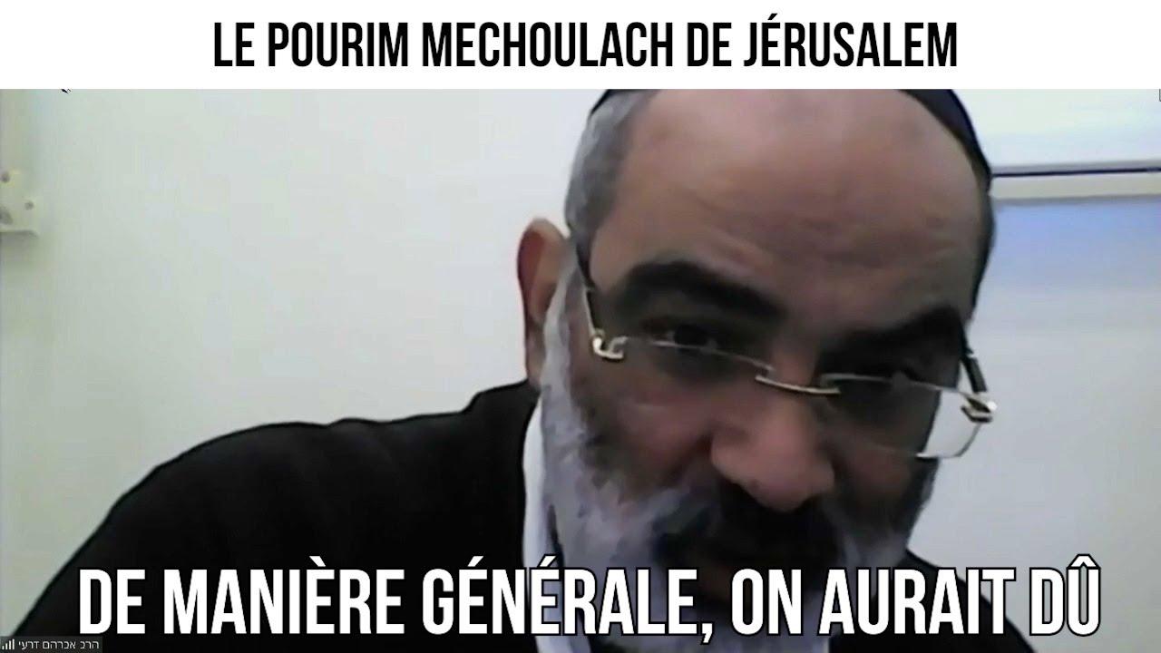 Le Pourim Mechoulach de Jérusalem - Un rabbin répond à vos questions du 22 fevrier 2021