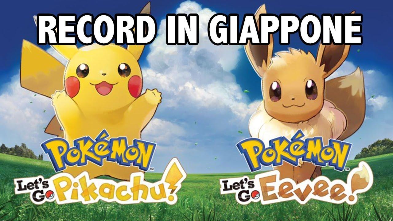 Pokemon Let S Go Pikachu E Eevee Record In Giappone E