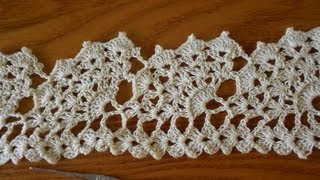 Repeat youtube video Crochet Orilla Abanicos Grandes