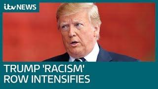 Trump rally chants 'send her back' as President attacks 'squad' | ITV News