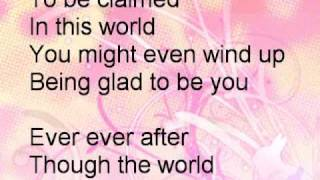 """This is """" Ever Ever After """" By Jordan Pruitt Lyrics on screen."""