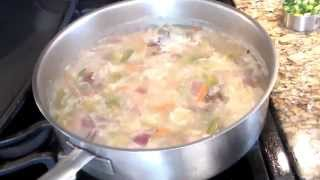Fish Soup With Udon Noodles And Vegetables