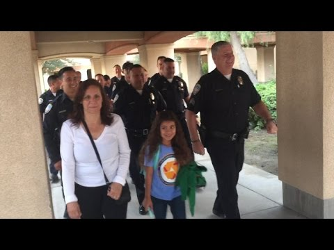 Fallen Cop's 8-Year-Old Daughter Escorted To School By Police Officers