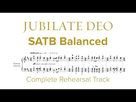 Complete SATB Rehearsal Track for Jubilate Deo by Dan Forrest
