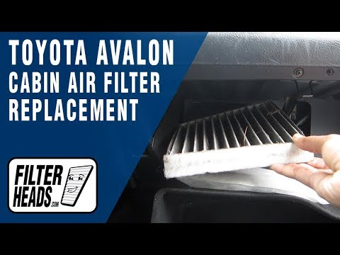 How To Replace Cabin Air Filter 2006 Toyota Avalon