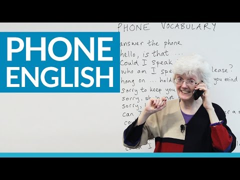 Real English: Speaking on the phone